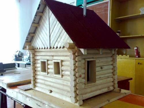 Деревянные поделки домики 62